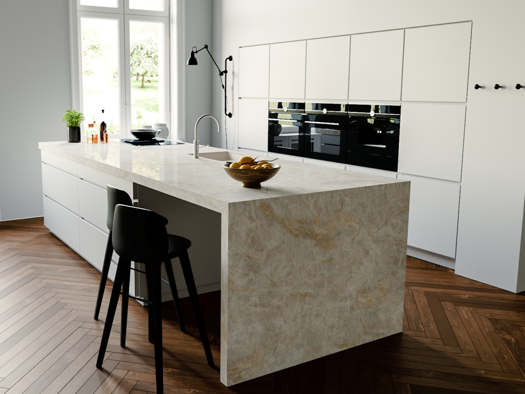 Techlam® Top Quartzite porcelain countertop