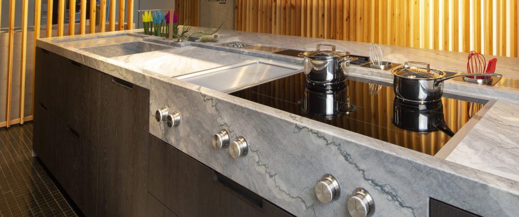 Naturamia® Nuvolato countertop in Nicolao Kitchens in Pontevedra