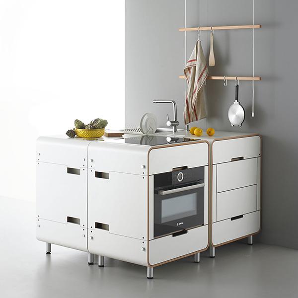 Muebles mini para cocinas mini. Fuente: Stadtnomaden