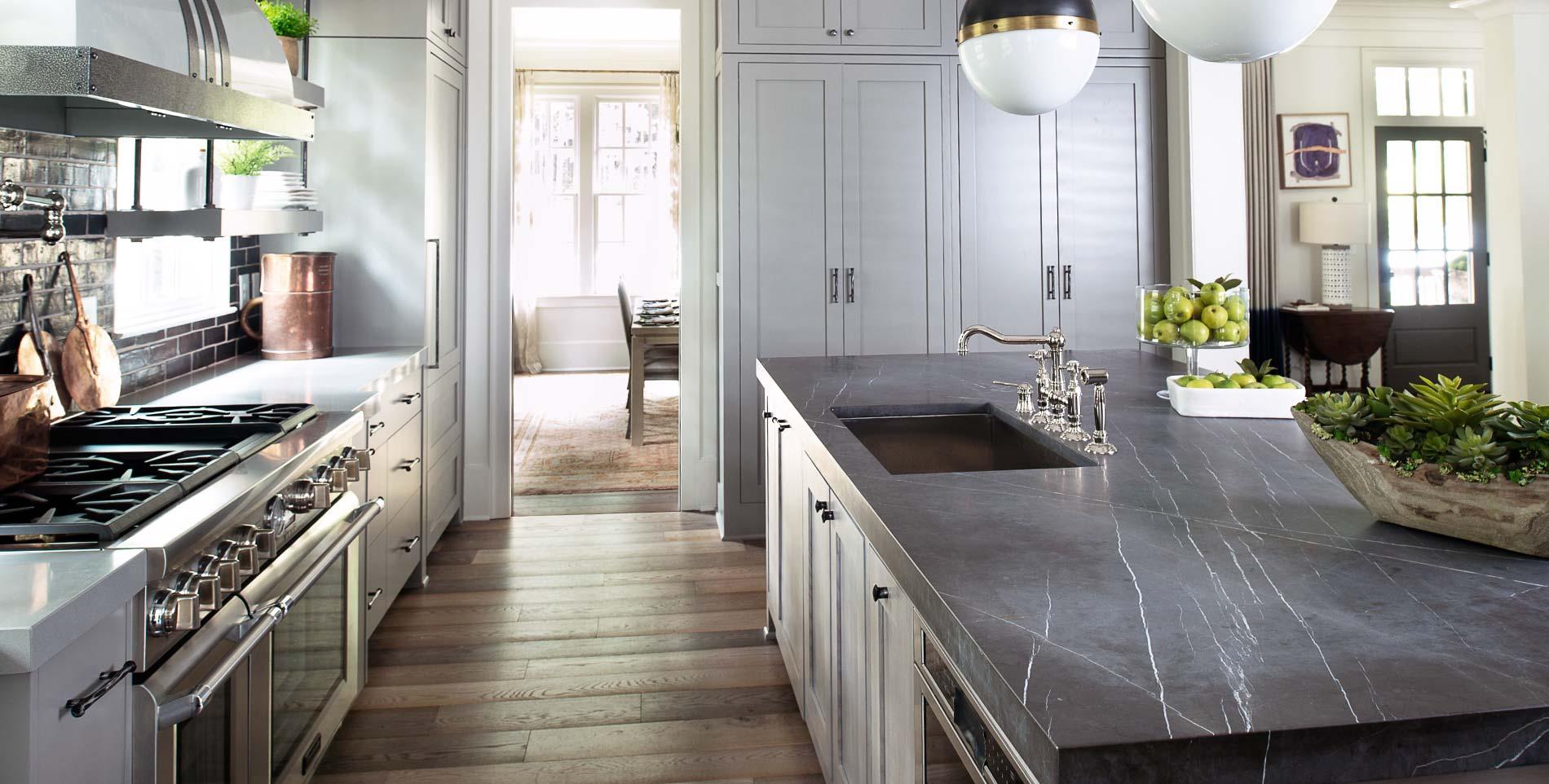 Encimera marmol cocina encimera de granito con vetas encimera marmol cocina barra de bar - Encimera marmol ...