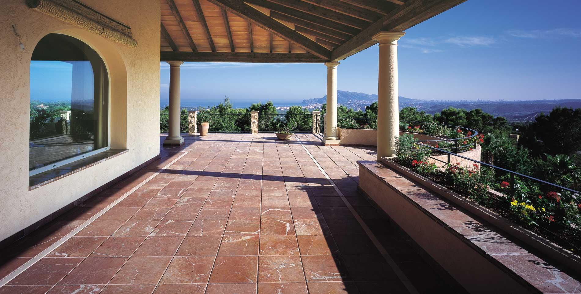 Suelo de piedra para exterior top piedra caliza melange de solnhofen en textura aserrado es muy - Suelos de piedra para exterior ...